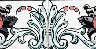 Traditionell portugisisk tegelplatta Arkivbilder