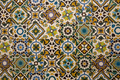 Traditionell portugistegelplattor Royaltyfri Foto