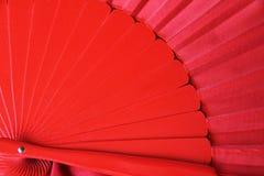 Traditionell röd flamencofan royaltyfri fotografi