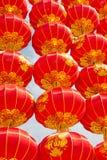 Traditionell röd kinesisk lykta i XI ', Kina ord 'Fu 'på lyktahjälpmedellyckan royaltyfria foton