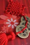 traditionell röd tie för kinesisk garnering Royaltyfria Bilder