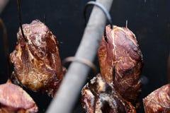 Traditionell rökt skinka Arkivfoto