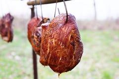 Traditionell rökt skinka Arkivbilder