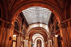 Traditionell restaurang för klassisk stil i Wien Arkivbilder