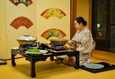 Traditionell restaurang i Akita, Japan Fotografering för Bildbyråer