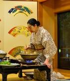 Traditionell restaurang i Akita, Japan Royaltyfri Bild