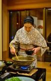 Traditionell restaurang i Akita, Japan Arkivbilder