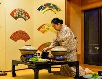Traditionell restaurang i Akita, Japan Royaltyfria Foton