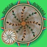 Traditionell rumänsk keramik av Horezu royaltyfri illustrationer