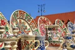 Traditionell rumänsk krukmakeri arkivbild