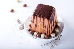 Traditionell rysk ortodox påsk Quark Dessert Fotografering för Bildbyråer