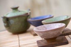 traditionell set tea för kines arkivfoto