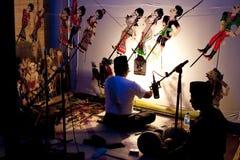 traditionell show för malaysiandockaskugga