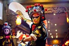 Traditionell Sichuan kinesopera Arkivfoton