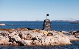 Traditionell skandinavisk gammal navigering Arkivfoton
