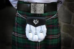 Traditionell skotsk dräkt Arkivfoto