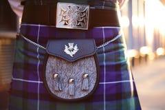 Traditionell skotsk dräkt Royaltyfri Fotografi