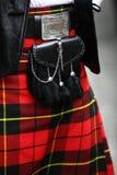 Traditionell skotsk dräkt Arkivfoton