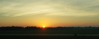 Traditionell solnedgång arkivfoto
