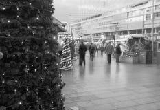 Traditionell Stall på Berlin Kaiser-Wilhelm Christmas Market Arkivfoto