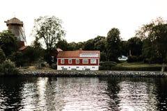 Traditionell svensk arkitektur i Stockholm, Sverige arkivfoto