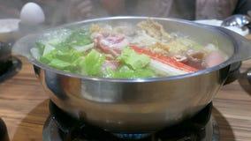 Traditionell taiwanesisk varm kruka lager videofilmer