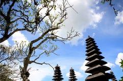 Traditionell tempel i Bali arkivbild
