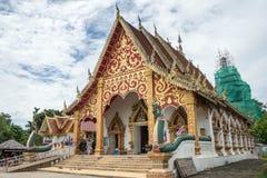 Traditionell tempel i nord av Thailand Royaltyfria Foton