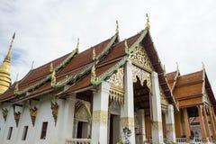 Traditionell tempel i nord av Thailand Arkivfoton