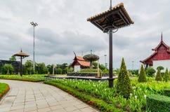 Traditionell thai arkitektur i den Lanna stilen, kungliga Pavilio Royaltyfri Bild