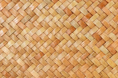 Traditionell thai bakgrund för stilmodellnatur av brun yttersida för gnäggande för hemslöjdvävtextur för möblemangmateria Royaltyfri Bild