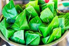 Traditionell thai efterrätt Arkivbild