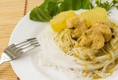 Traditionell thailändsk kokkonst Fotografering för Bildbyråer
