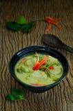 Traditionell thailändsk mat för `-Kang Keaw Wan Fish Ball ` Royaltyfri Fotografi