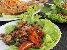 Traditionell thailändsk matställe Royaltyfria Bilder