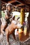 Traditionell thailändsk stil en av zodiak 12 Arkivfoton