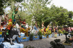 Traditionell thailändsk stil för tolv zodiak för folk och besök och p Royaltyfri Fotografi