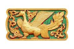 Traditionell thailändsk stilkonst av zodiak för stuckatur 12 Arkivfoton