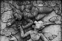 Traditionell thailändsk stilstöpningskonst Arkivbild