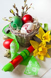 Traditionell tjeckisk easter garnering Arkivfoto