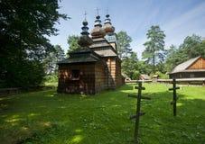 Traditionell träkyrka Arkivbild