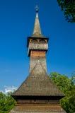 Traditionell träkyrka i Maramures område, Rumänien Arkivfoto