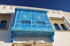 traditionell tunisian för balkong Fotografering för Bildbyråer