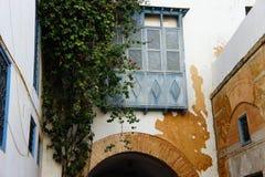 traditionell tunisian för balkong Arkivbilder