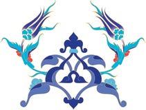 traditionell turk för antik illustratottomantegelplatta Arkivfoton