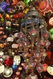 traditionell turk för glass lampor Royaltyfri Bild