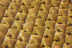 Traditionell turkisk baklavaefterrätt Royaltyfri Foto