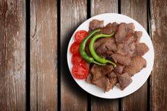 Traditionell turkisk kebab Fotografering för Bildbyråer