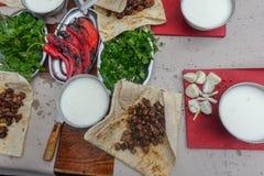 Traditionell turkisk matleversmåfisk arkivfoton