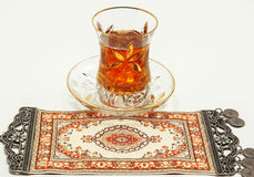 Traditionell turkisk teservis Royaltyfri Foto